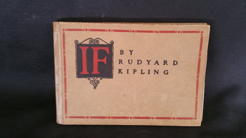 If by Rudyard Kipling 1910 First Edition