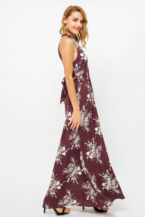 Searching For Love Fuchsia Tropical Print Dress