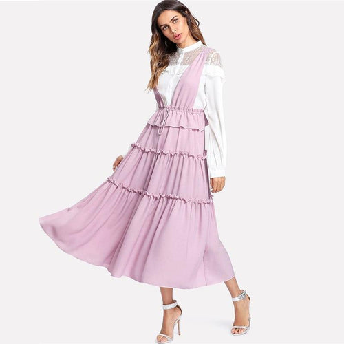 Truth Of It Pink Striped Maxi Dress