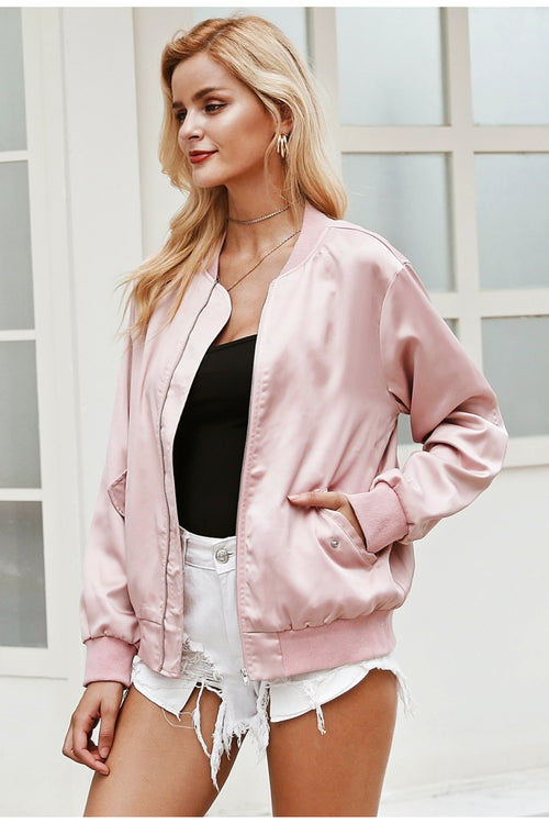 Check Your Facts Pink Suede Jacket