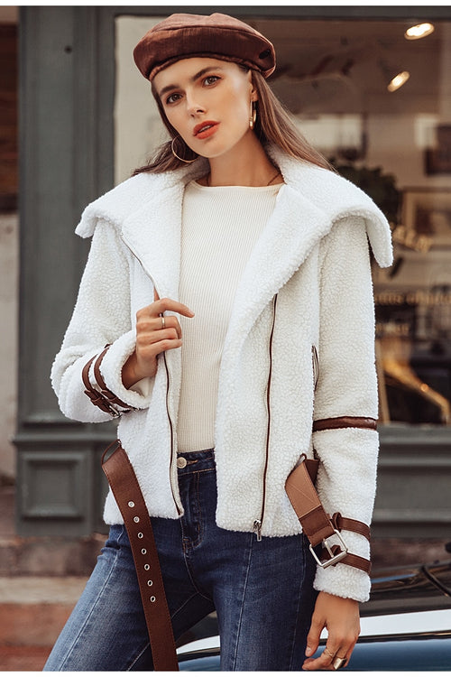 Call For Fall White Utility Jacket