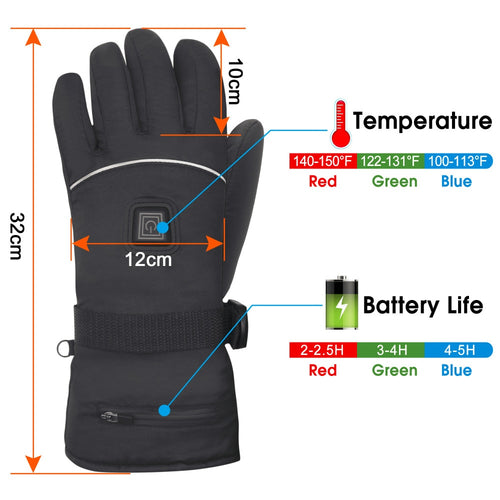 Winter Electric Heated Gloves with a Pair of gloves+2 Rechargeable Li-ion Battery +a Charger+Instructions
