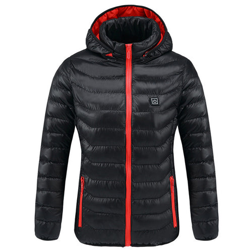 USB Constant Temperature Waterproof Women Heated Jackets Winter Thermal Warm