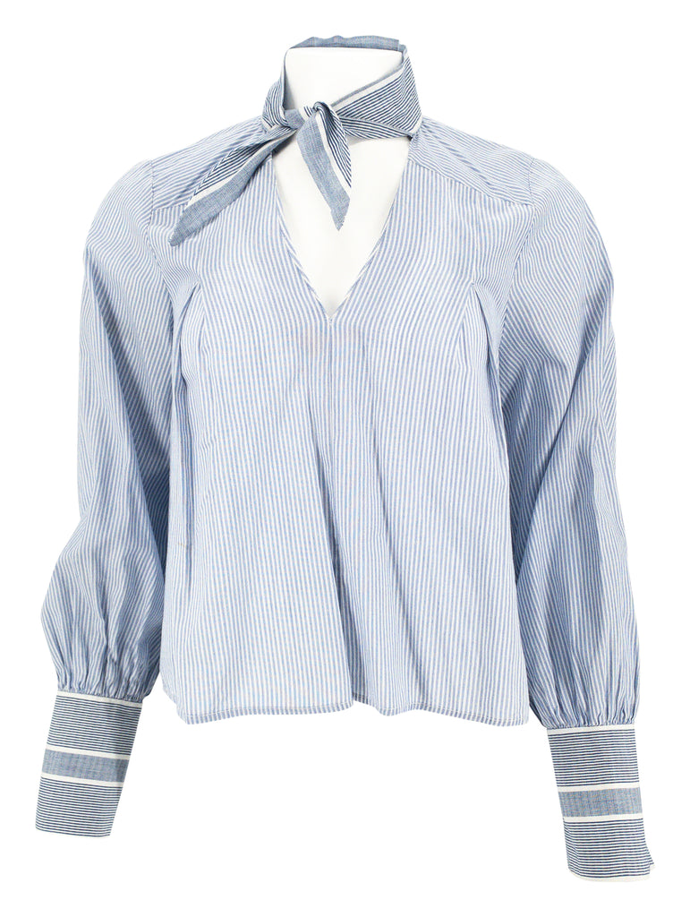 sea new york poplin striped top