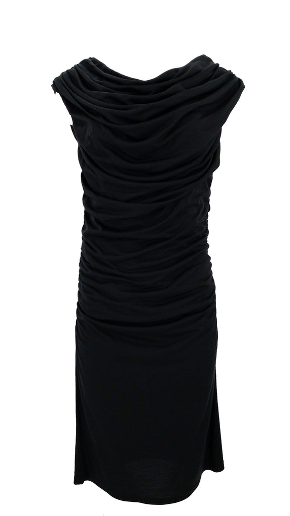 barney's cinch dress black