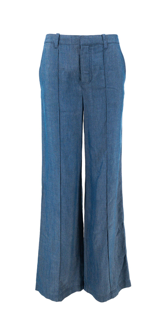 vince denim wide leg pants