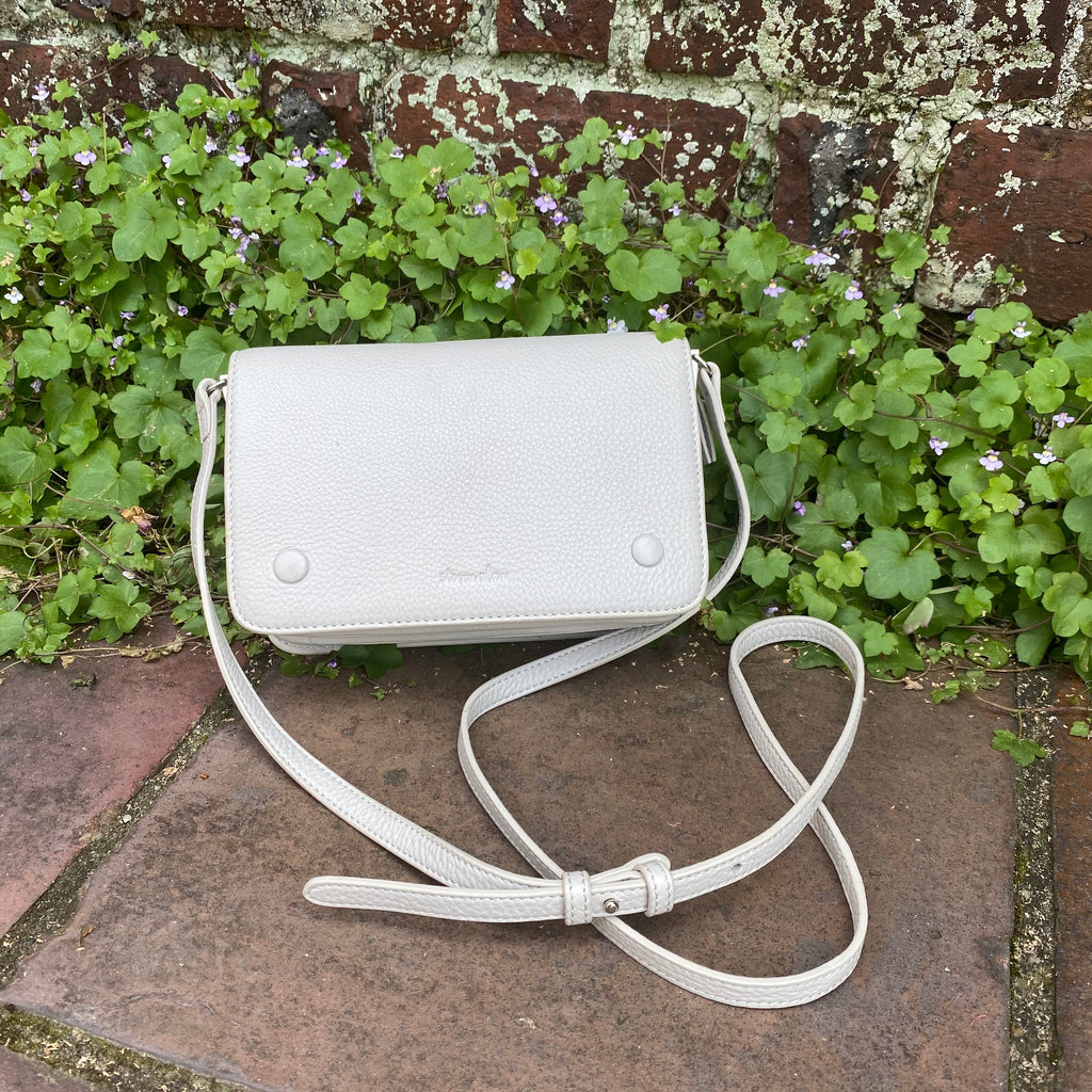 Steven Alan white leather crossbody