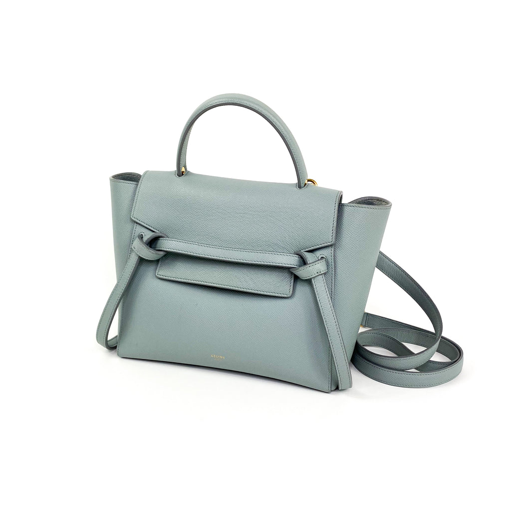 celine micro belt bag grey