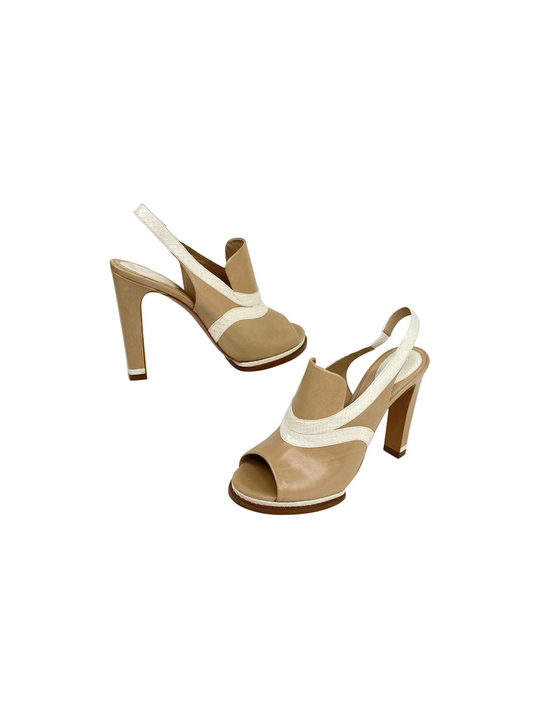 Chloé mules peep toe heels designer shoes sandals