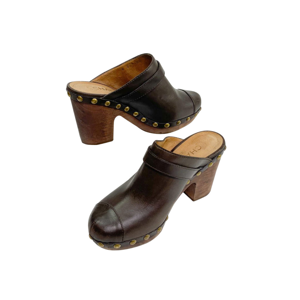 Chanel mules clogs brown