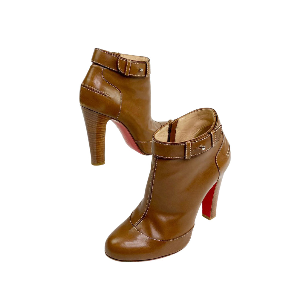 Louboutin booties tan