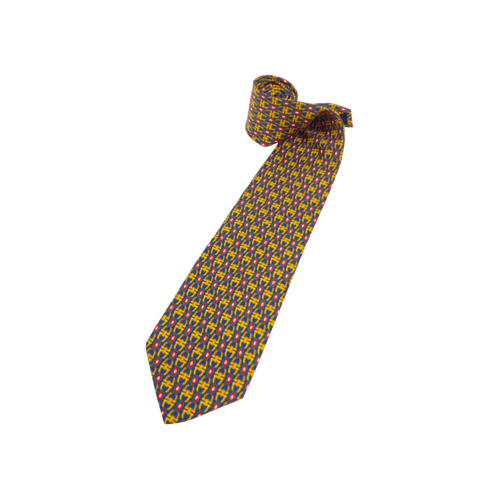 mens gucci silk printed tie