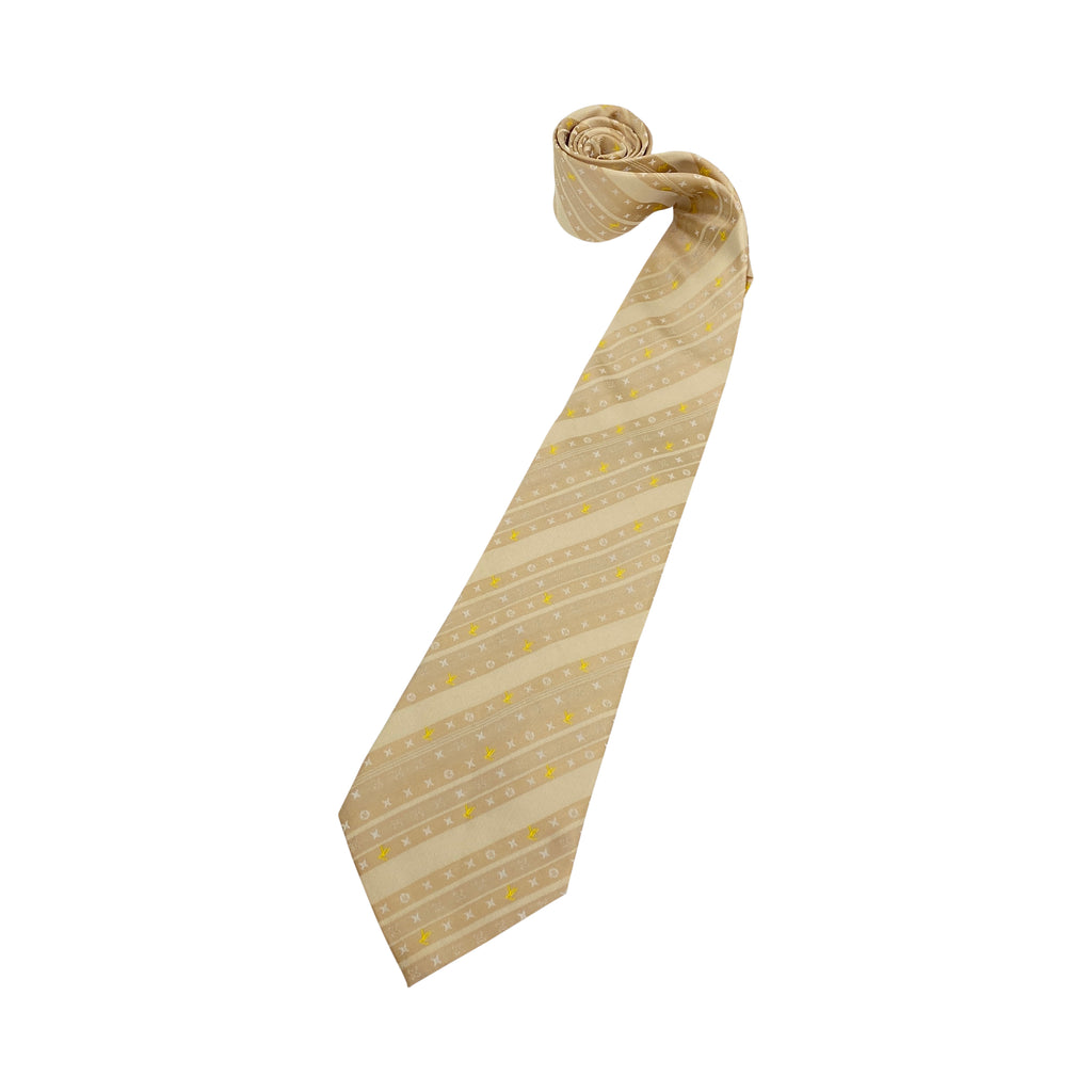 Louis Vuitton mens silk yellow tie