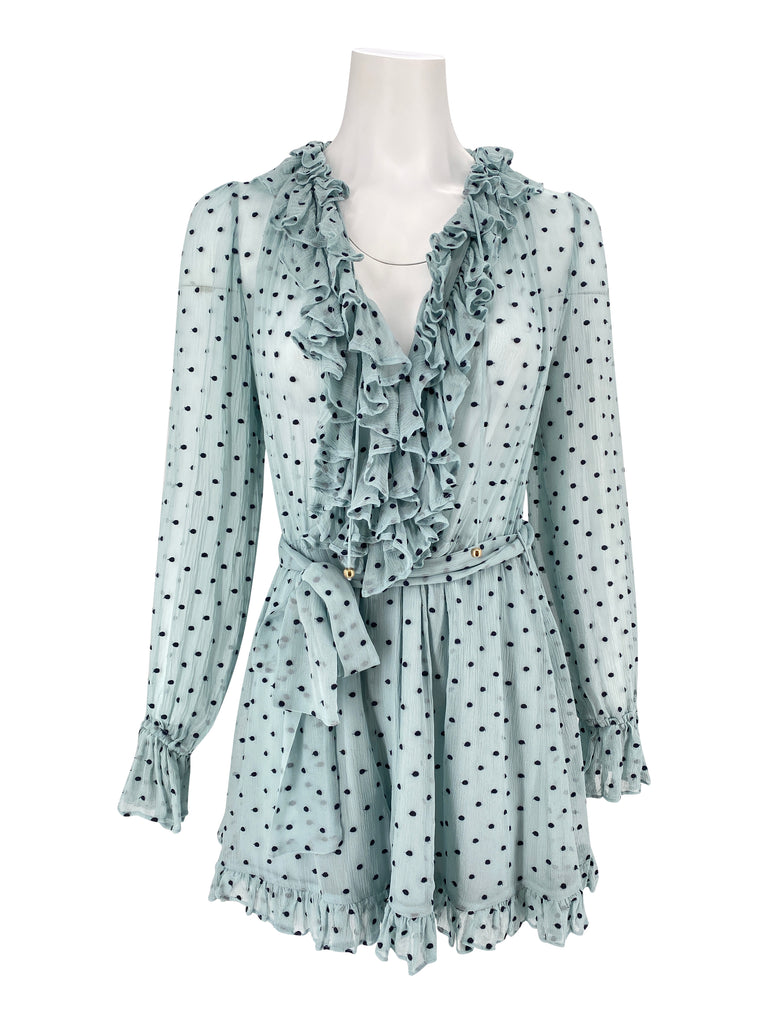 Zimmermann polka dot blue romper