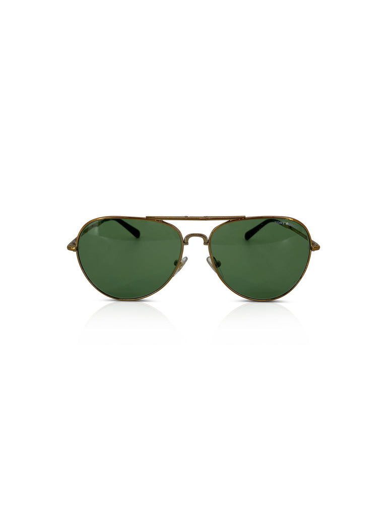 tory burch convertible foldable aviators green