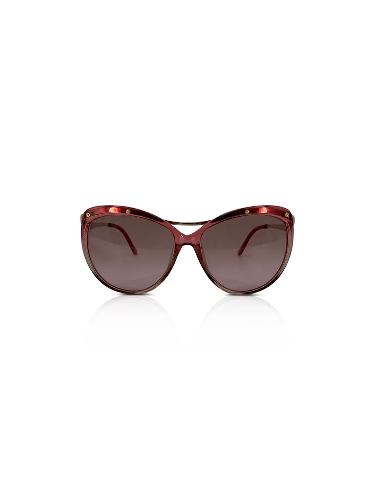 salvatore Ferragamo pink industrial sunglasses