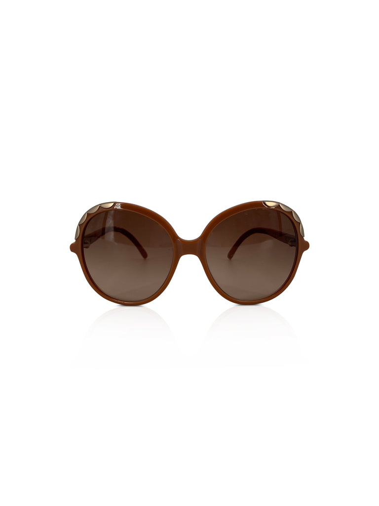Chloe round oversized sunglasses