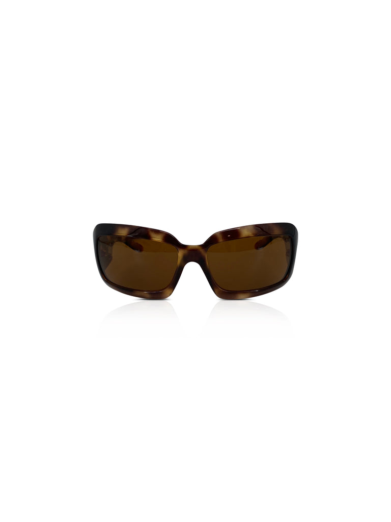 Chanel square tortoise sunnglasses