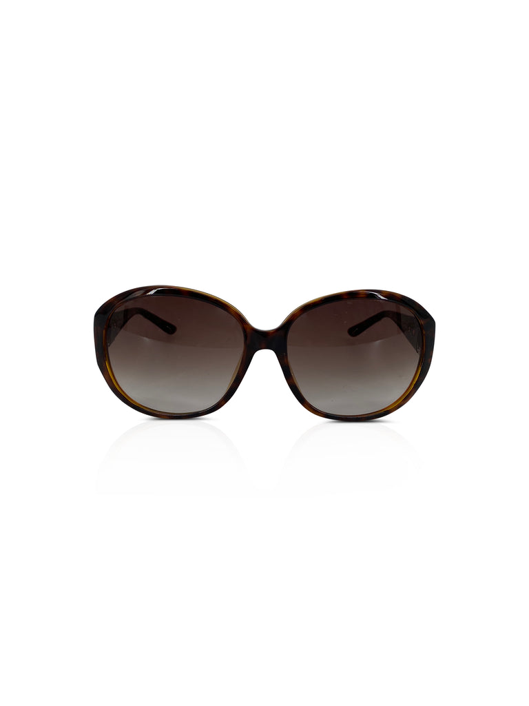 gucci oval tortoise sunglasses