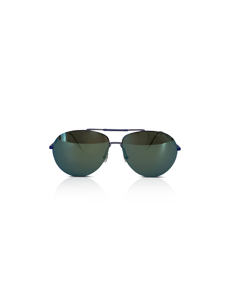 dior aviators blue green