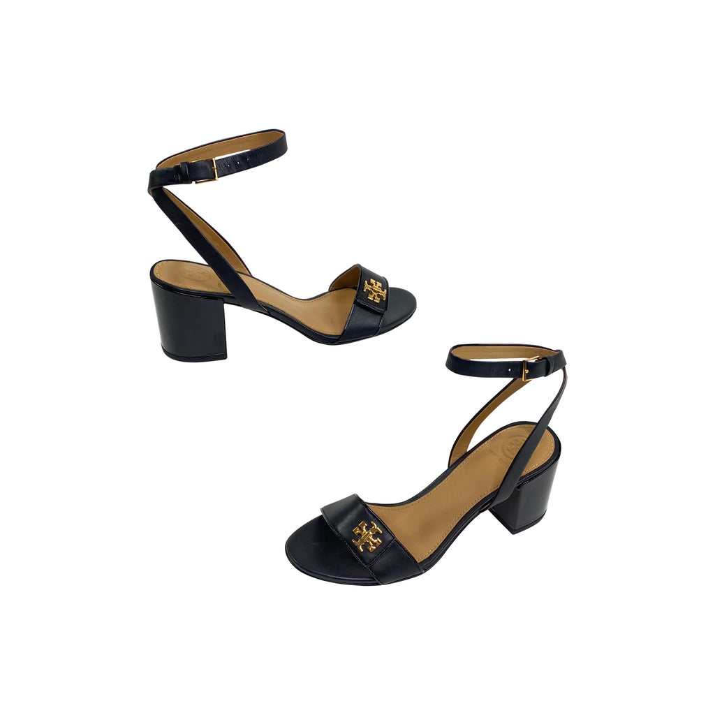 tory burch black sandal heel block