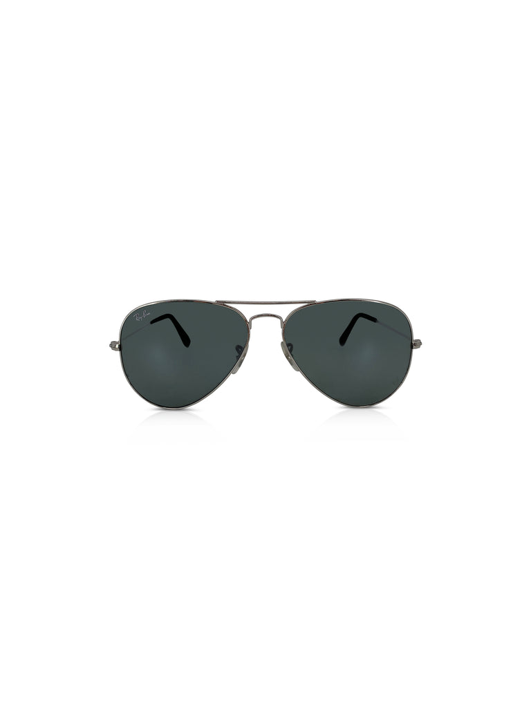 ray ban aviator sunglasses grey silver