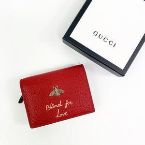 Gucci Mini Wallet in Red Leather