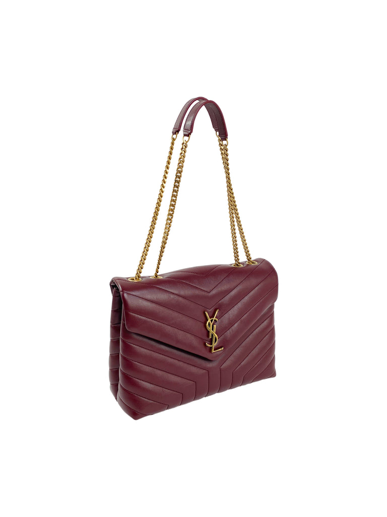 ysl lou lou designer handbag red gold leather