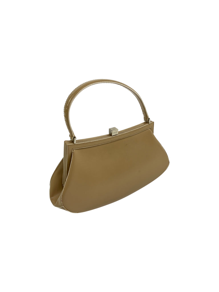 mops chino tan frame bag mini top handle