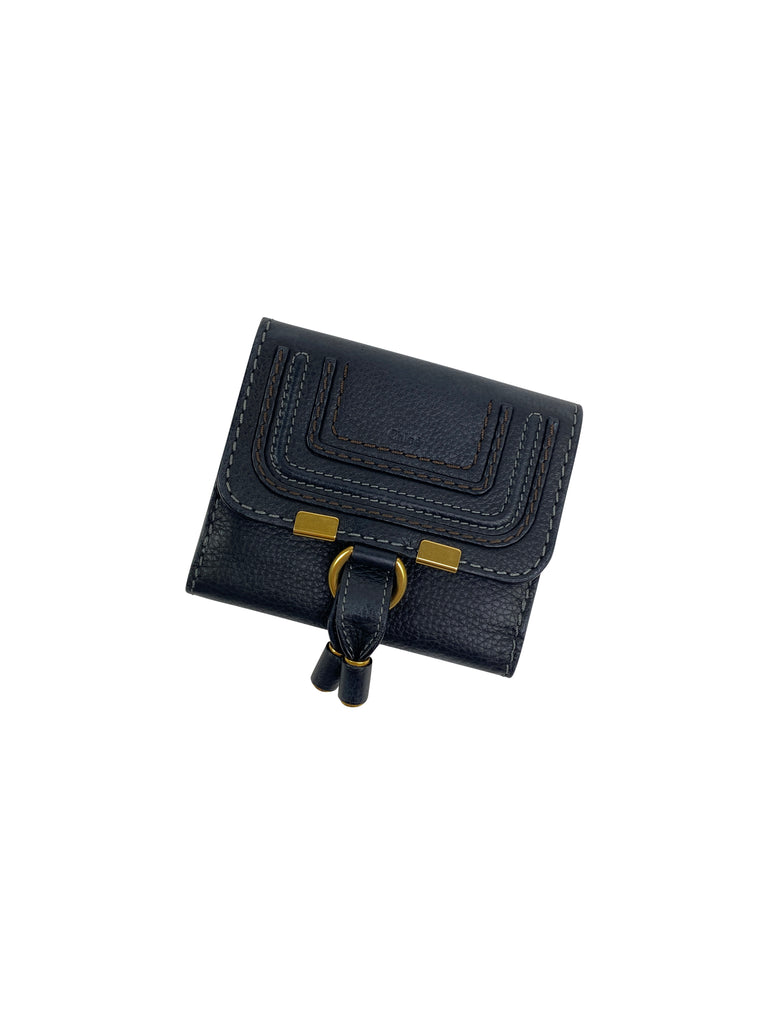 Chloe French purse wallet small black