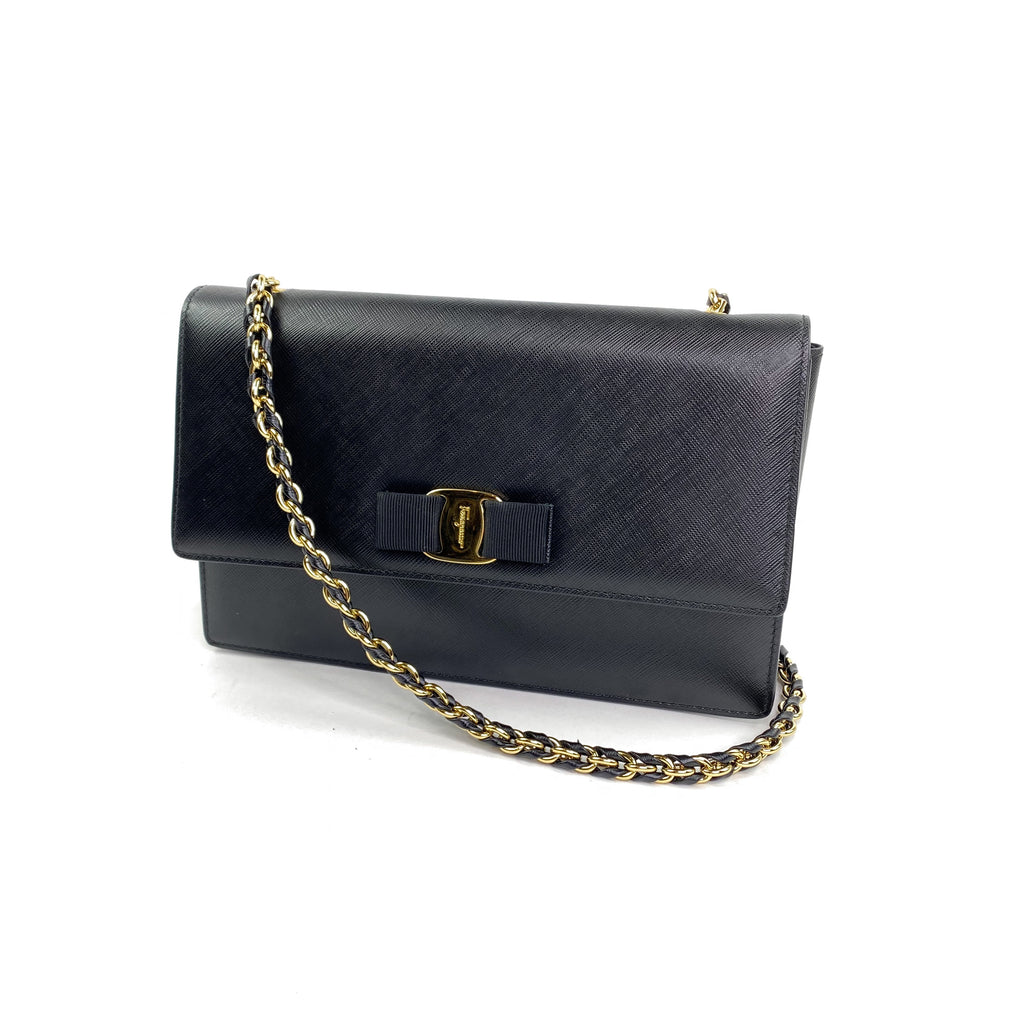 salvatore Ferragamo ginny crossbody bag chain