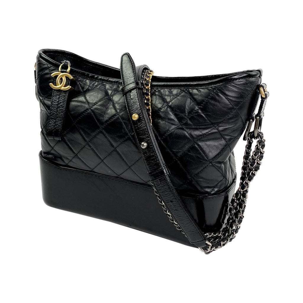 Chanel Gabrielle hobo black handbag
