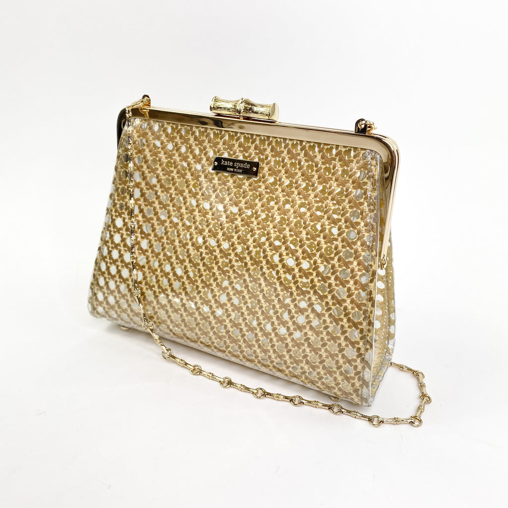 Kate spade summer house robby bag bamboo clear pic