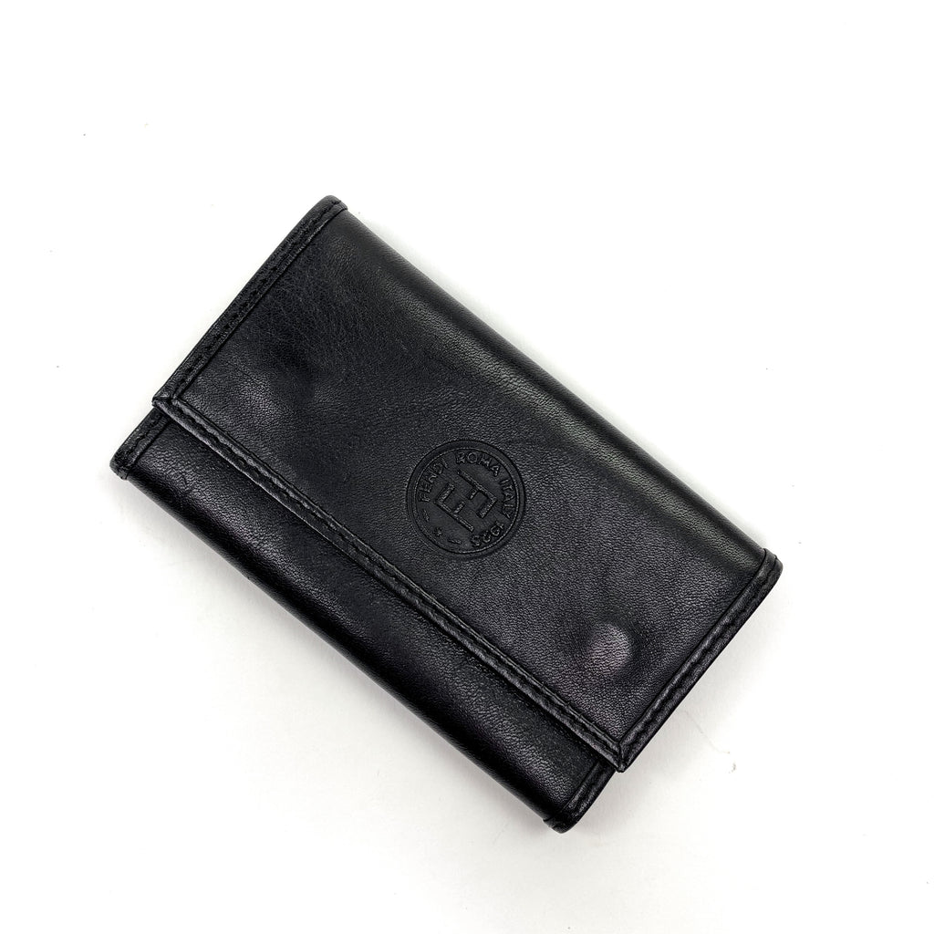fendi leather key holder black
