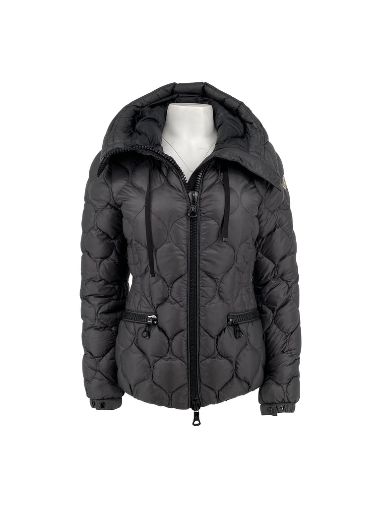 moncler short puffer jacket grey coat