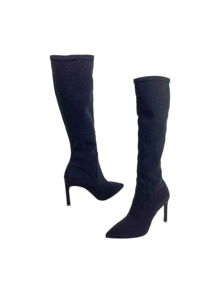 Stuart Weitzman black boots stretch