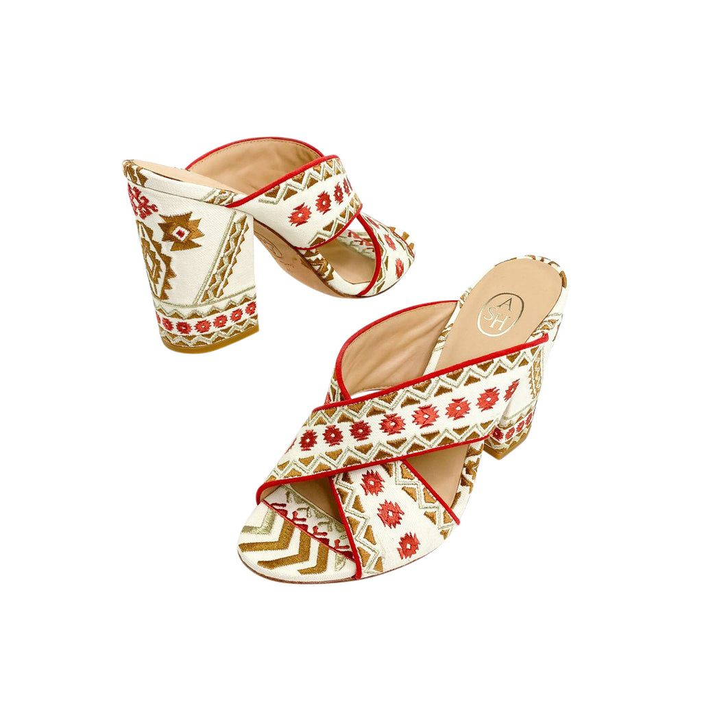 ash mules embroidered sandals