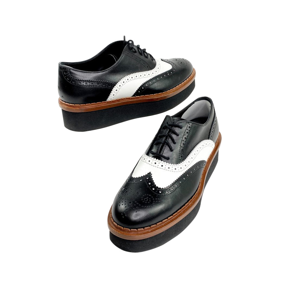 tod's oxfords brogue platforms