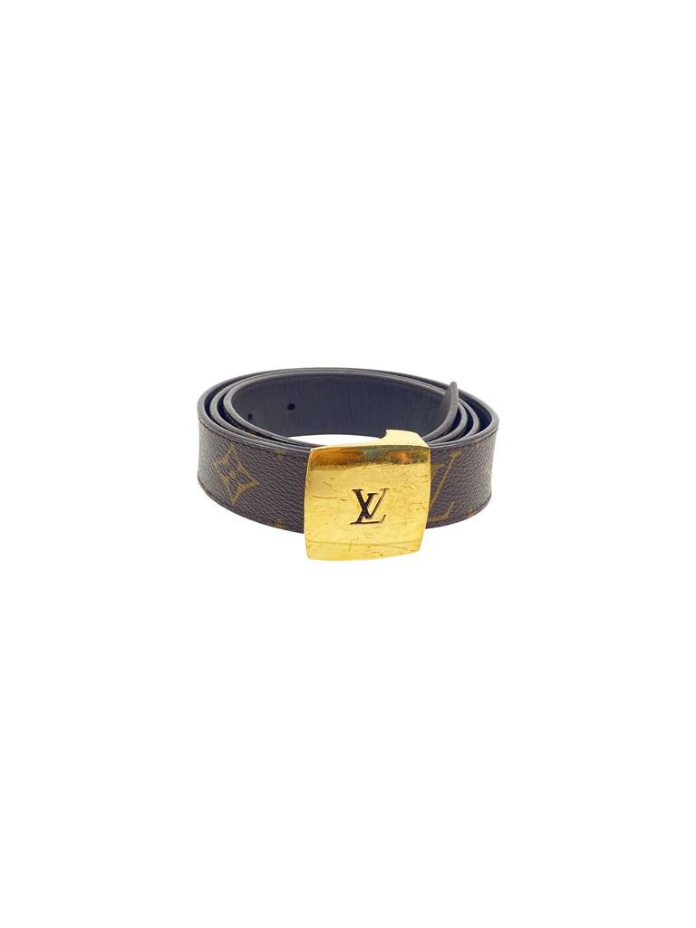 louis vuitton monogram belt leather