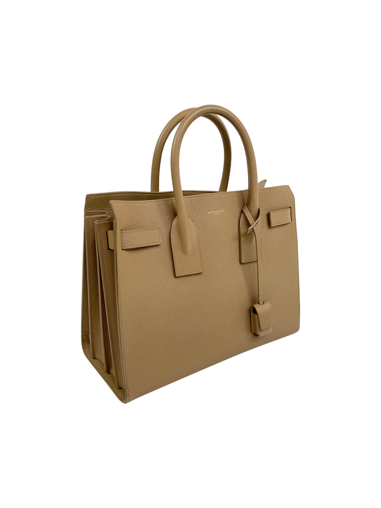 ysl sac de jour tan leather beige neutral handbag saint laurent designer