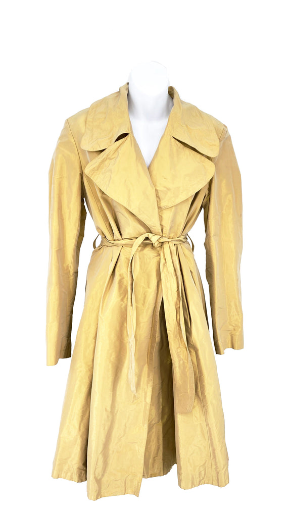 Burberry gold a line coat gold