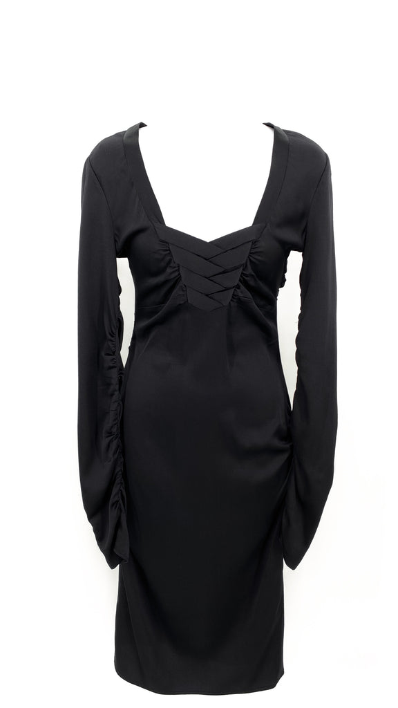Gucci black silk dress