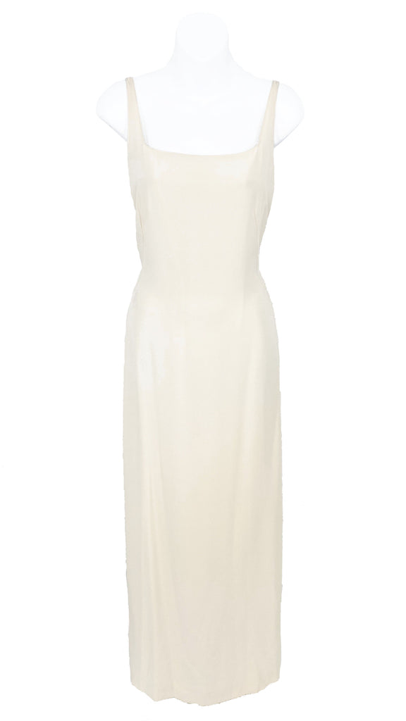 vintage Valentino spaghetti strap dress ivory silk wedding