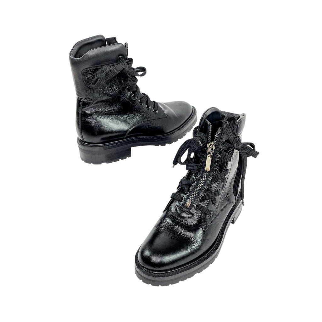 ysl saint laurent combat black boots