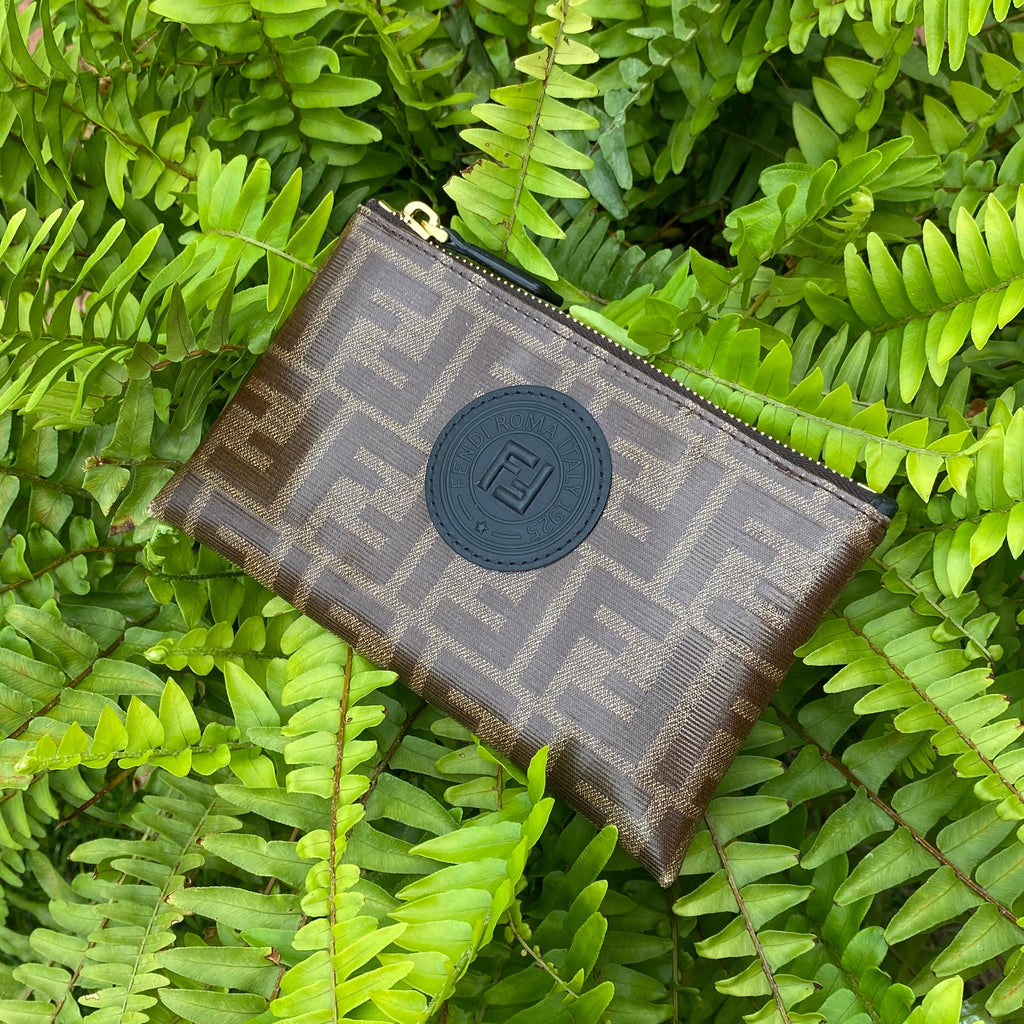 fendi monogram zip pouch