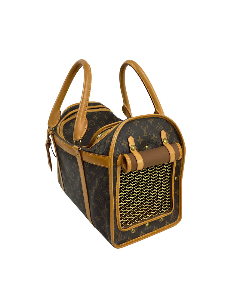 Louis Vuitton dog puppy carrier monogram