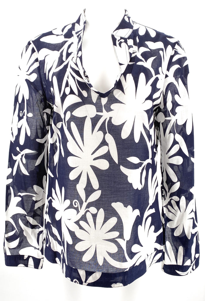 Tory burch printed tunic floral