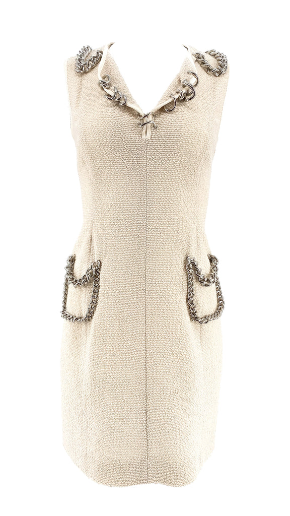sleeveless dress Moschino chain