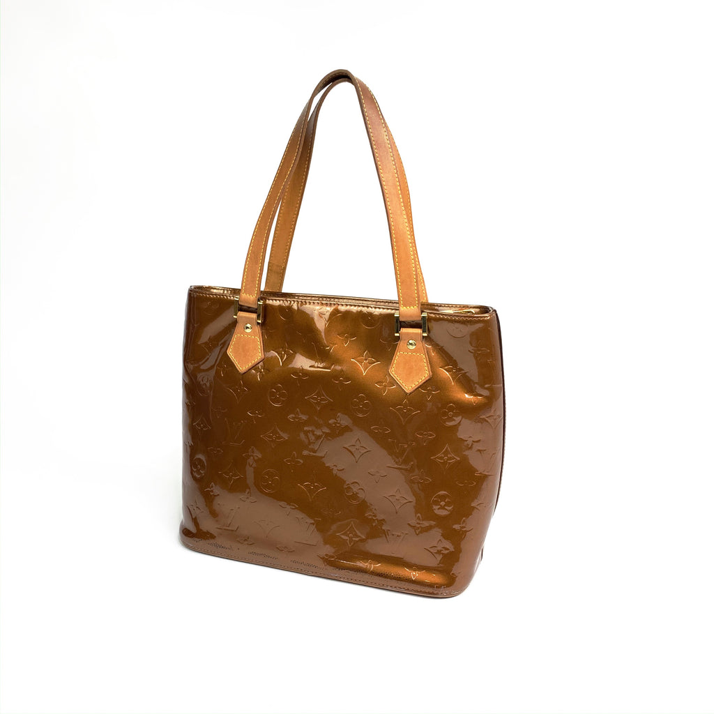 Louis Vuitton patent tote handbag monogram