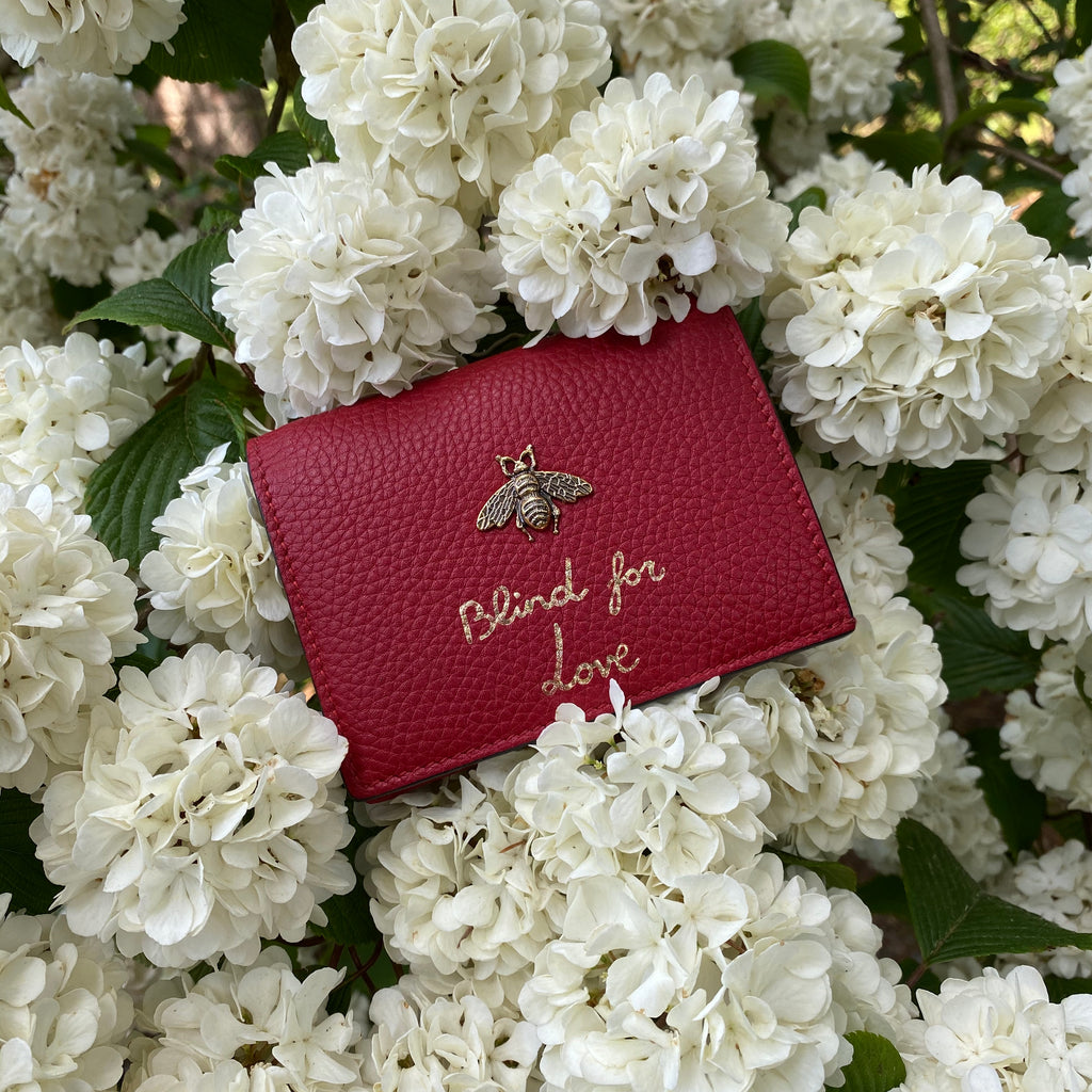 gucci red mini wallet blind for love